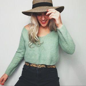 Free People Mint Sweater